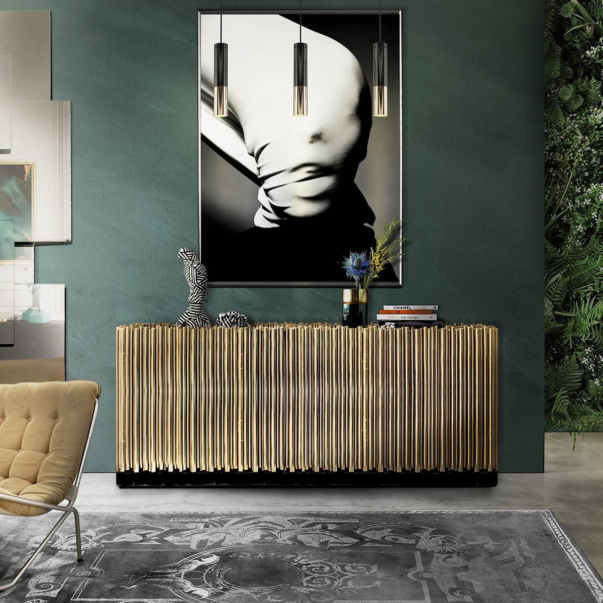 Elegant Dining Room Sideboard Decorating Ideas Throughout Elegant Sideboards (#4 of 15)