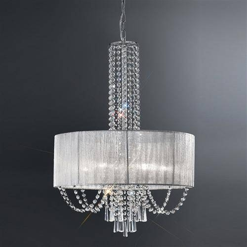 Empress Crystal Drum Pendant Fl2304/6 | The Lighting Superstore Inside Most Up To Date Crystal Pendant Lights Uk (#12 of 15)