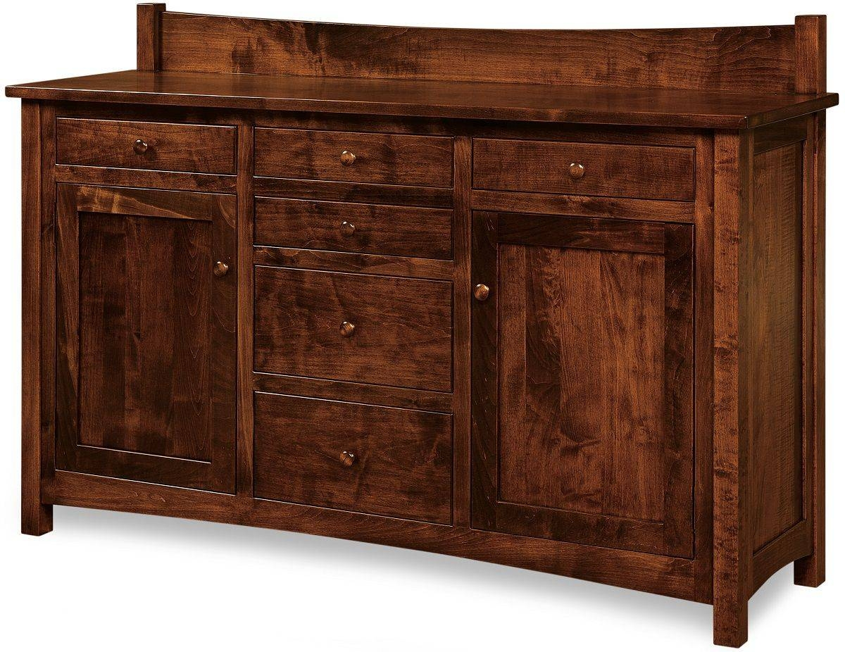 Enfield Solid Wood Amish Buffet – Countryside Amish Furniture Within Real Wood Sideboards (#4 of 15)