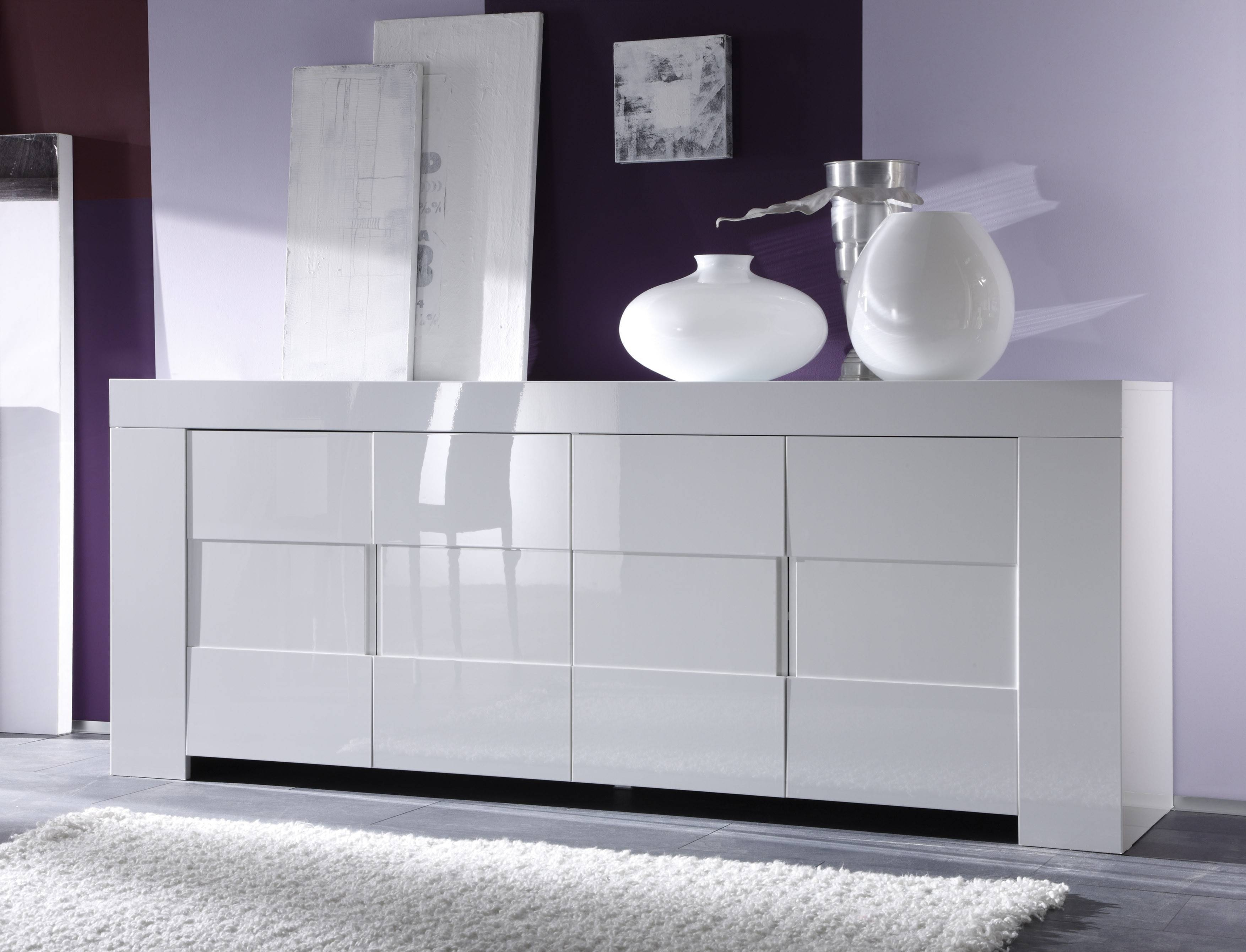 Eos Sideboard, White Buy Online At Best Price – Sohomod For White Sideboard Furniture (View 11 of 15)