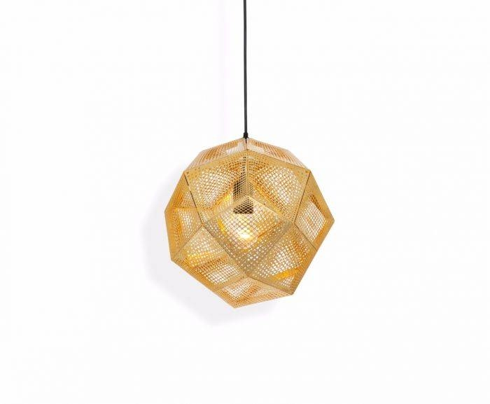 Etch Brass Pendant | Pendant Lights | Tom Dixon Throughout 2018 Tom Dixon Brass Pendants (#8 of 15)