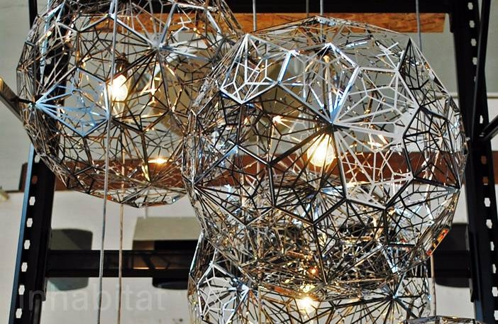 Etch Light Web Stainless Steel + Tom Dixon « Inhabitat – Green With Regard To 2017 Tom Dixon Etch Web Pendants (#5 of 15)