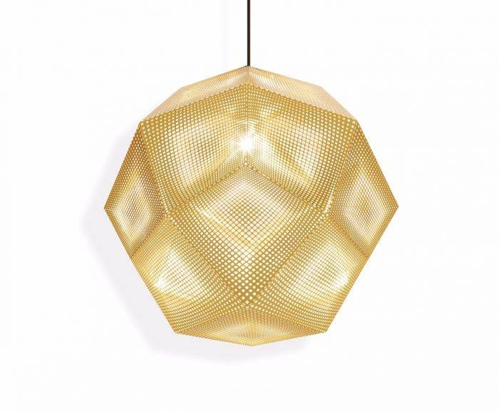 Etch Pendant 50Cm Brass | Pendant Lights | Tom Dixon For 2017 Etch Pendants (#7 of 15)