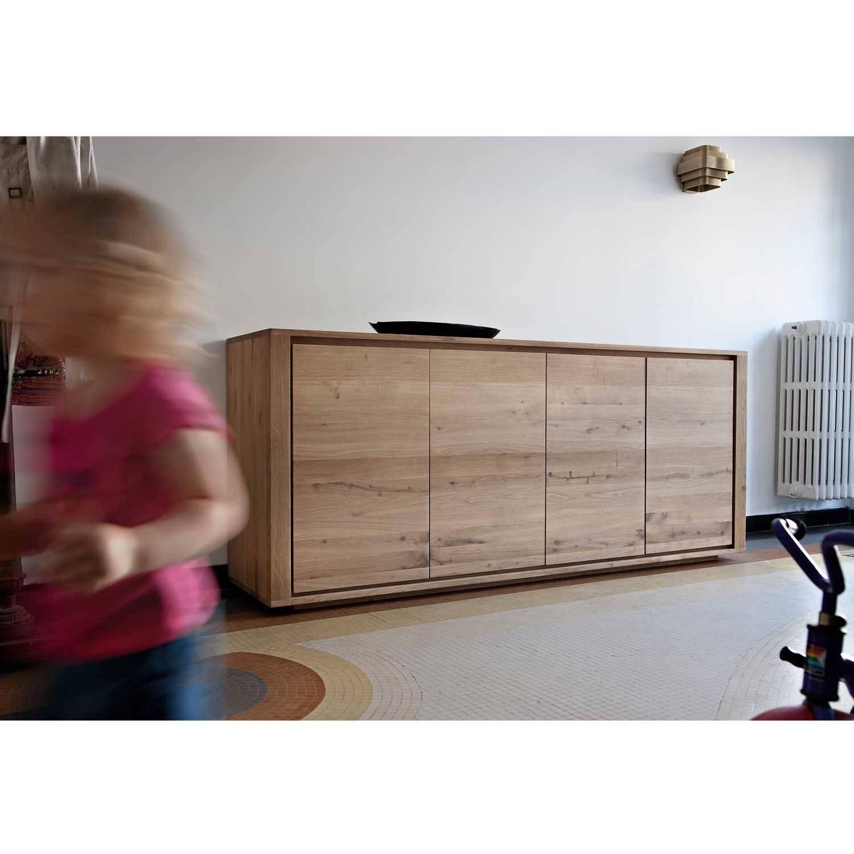 Ethnicraft Shadow Oak Sideboard | Solid Wood Furniture Regarding Contemporary Oak Sideboards (View 11 of 15)