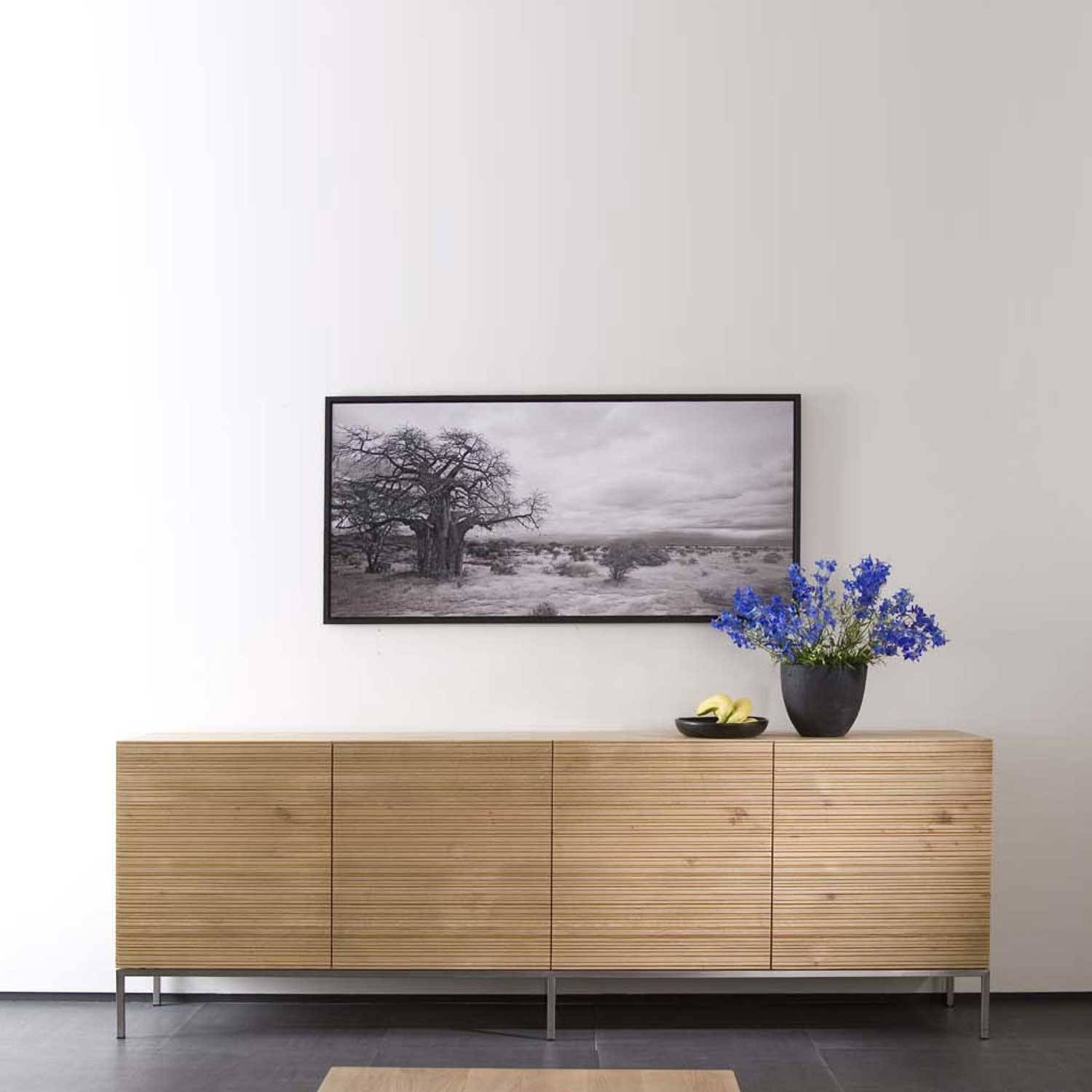 Ethnicraft Stonecut Oak Sideboards | Solid Wood Furniture Within White And Wood Sideboards (#3 of 15)