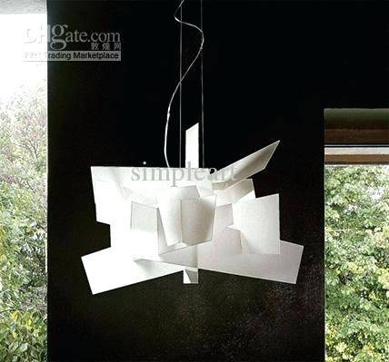 Extra Large Pendant Light Shade Modern Fittings Long Dining Room Pertaining To Current Modern White Pendant Lights (View 12 of 15)