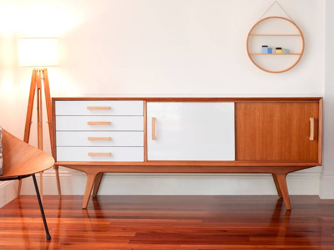 White Retro Sideboard