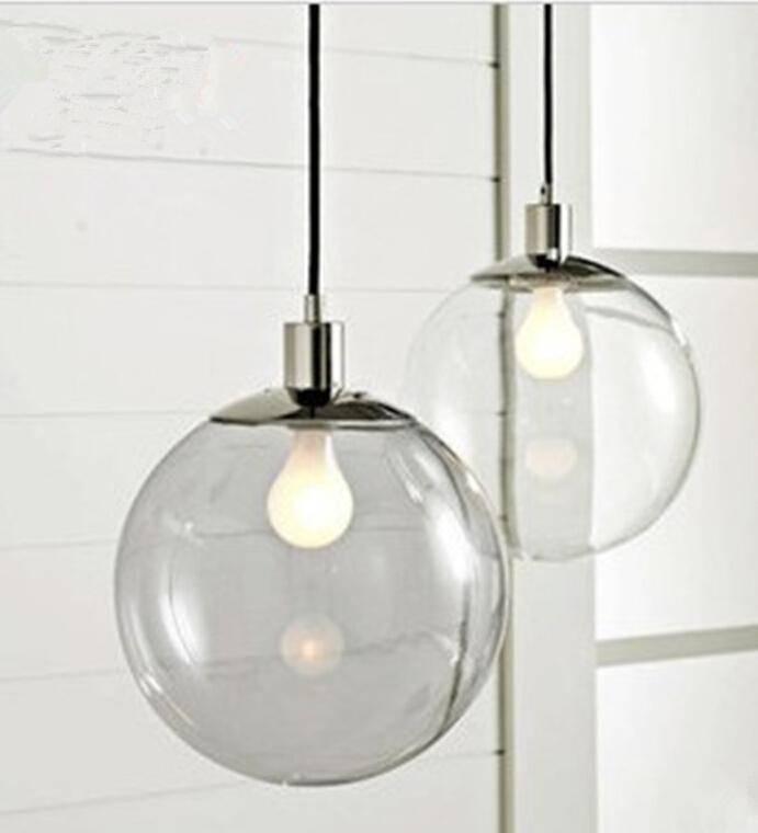 Fashion Lamp Scandinavian Minimalist Glass Ball Pendant Light Pertaining To 2017 Scandinavian Pendant Lighting (#10 of 15)