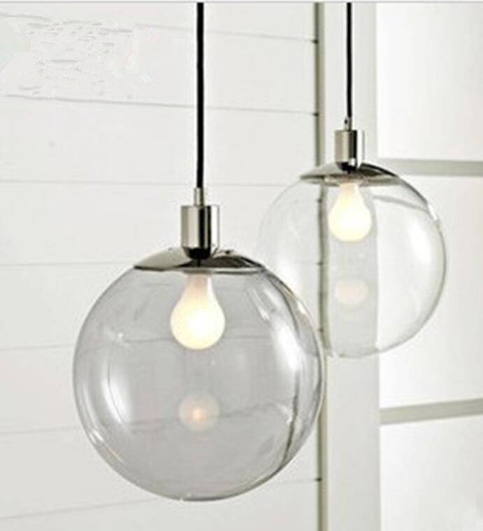 Fashion Lamp Scandinavian Minimalist Glass Ball Pendant Light Regarding Current Scandinavian Pendant Lights (#9 of 15)