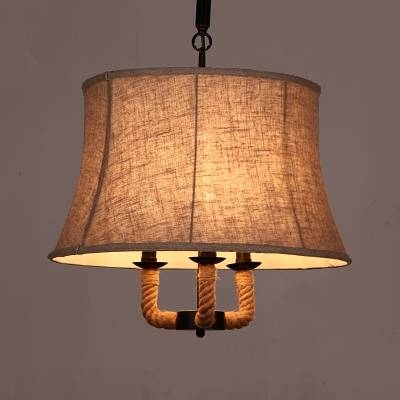 Fashion Style Fabric, Pendant Lights Industrial Lighting Pertaining To 2017 Fabric Pendant Lighting (#8 of 15)