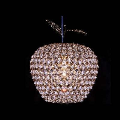 Fashion Style Globe Crystal Lights – Beautifulhalo For Current Apple Pendant Lights (View 6 of 15)