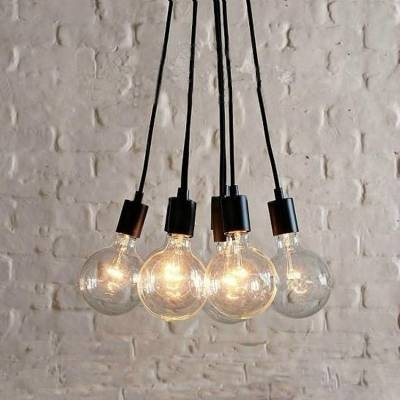 Fashion Style Multi Light Pendants Industrial Lighting For Best And Newest Multi Bulb Pendants (#7 of 15)
