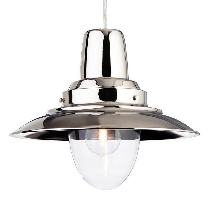 Firstlight Fisherman Chrome Single Ceiling Light Pendant   8645ch Pertaining To Recent Fisherman Pendant Lights (View 1 of 15)