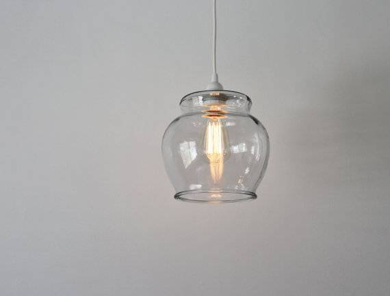 Fish Bowl Pendant Lamp Hanging Pendant Lamp Made From A Regarding Most Recently Released Glass Bowl Pendant Lights (#7 of 15)