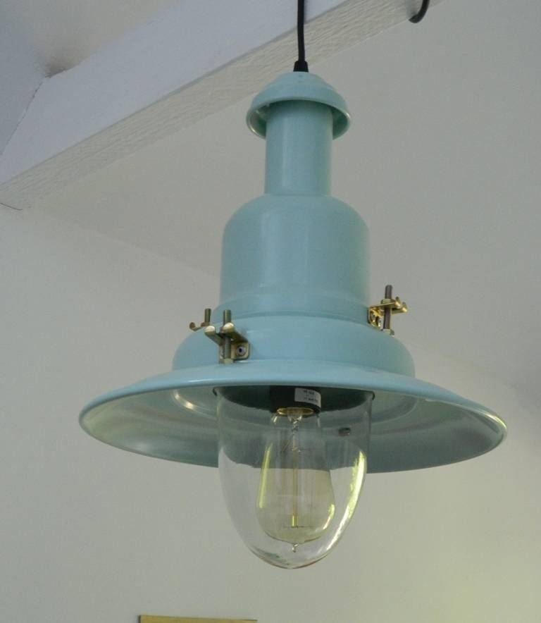 Fisherman's Pendant Light In Choice Of Blue Regarding Most Popular Fisherman Pendant Lights (View 6 of 15)