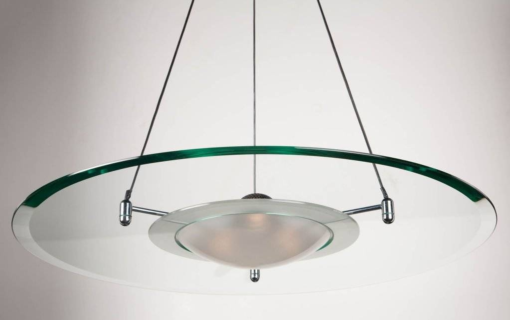 Flying Saucer Pendant Chandelier At 1Stdibs For Recent Saucer Pendant Lamps (#6 of 15)