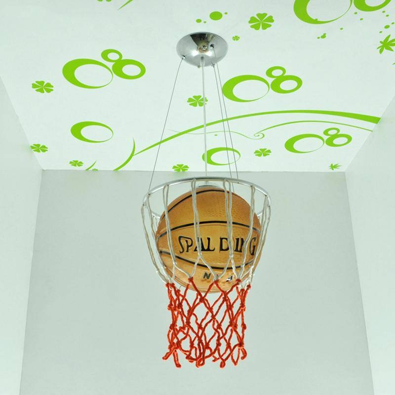 Football Pendant Light Soccer Ball Children Room Glass Light Lamps In Most Recently Released Football Pendant Lights (View 9 of 15)