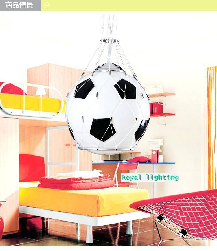 Football Pendant Light Soccer Ball Children Room Glass Light Lamps Inside Newest Football Pendant Lights (View 10 of 15)