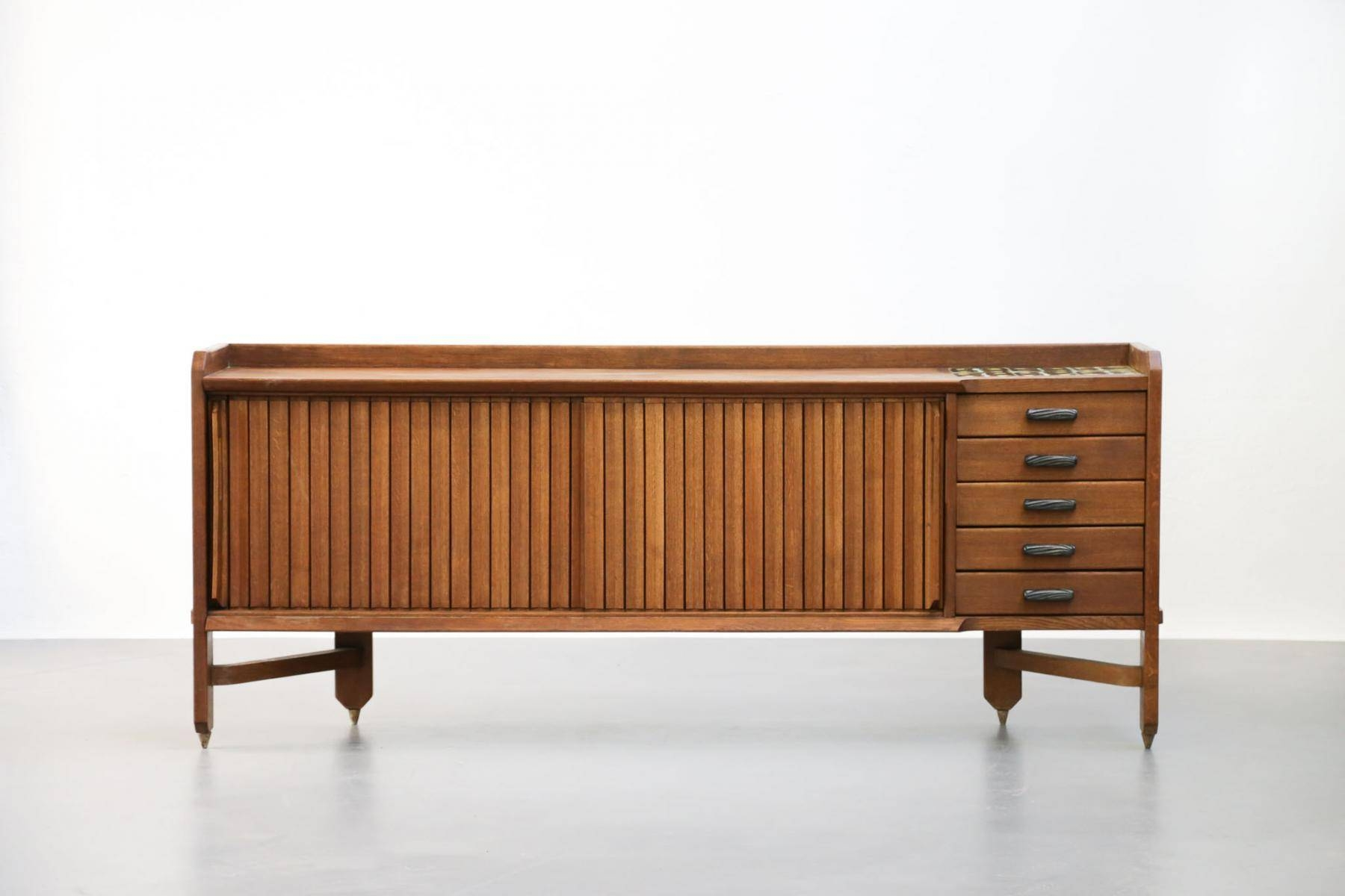 French Mid Century Sideboardguillerme Et Chambron For Votre For Mid Century Sideboards (#1 of 15)