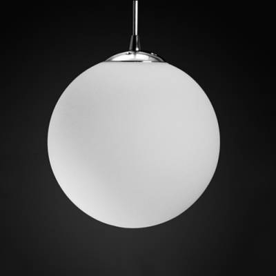 Frosted Glass Ball Pendant Light 1 Light – Beautifulhalo In Recent Ball Pendant Lighting (View 10 of 15)