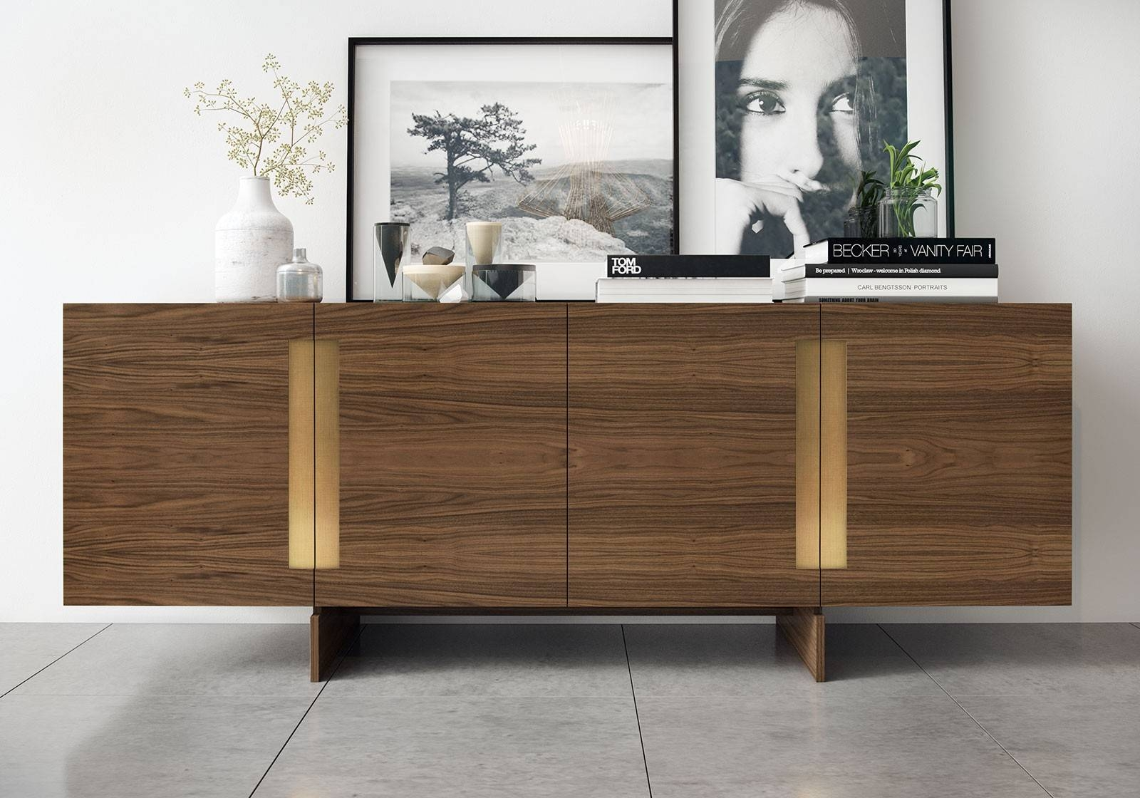 Furniture: Beautiful Profile Modern Sideboard For Living Room In Contemporary Sideboard Cabinets (View 3 of 15)