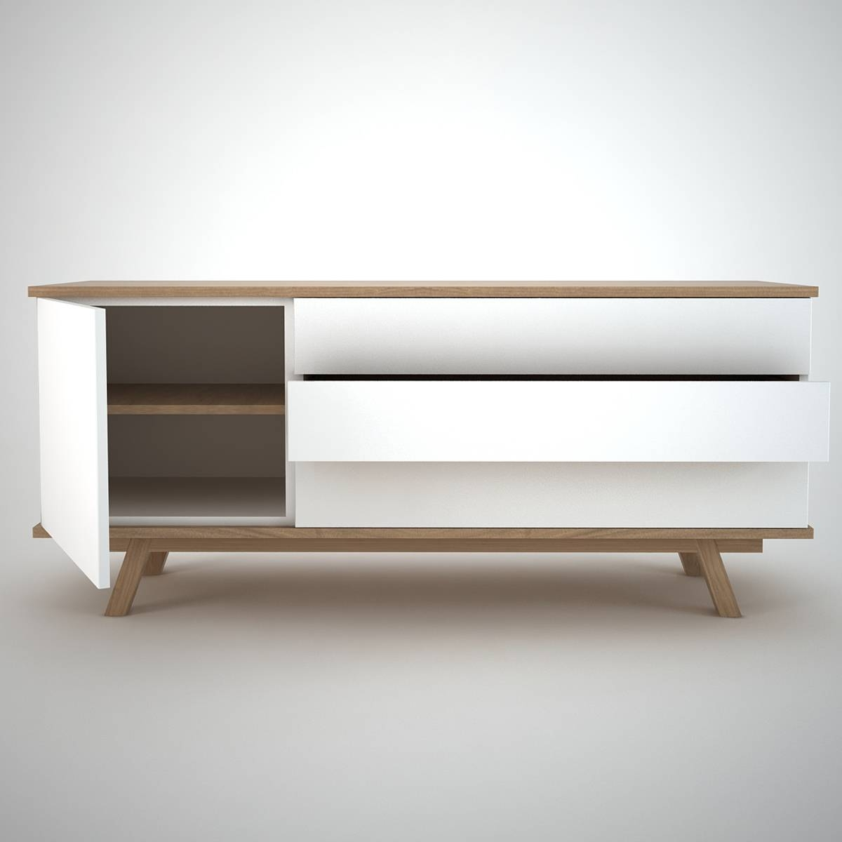 15 best ideas of white modern sideboards. Black Bedroom Furniture Sets. Home Design Ideas