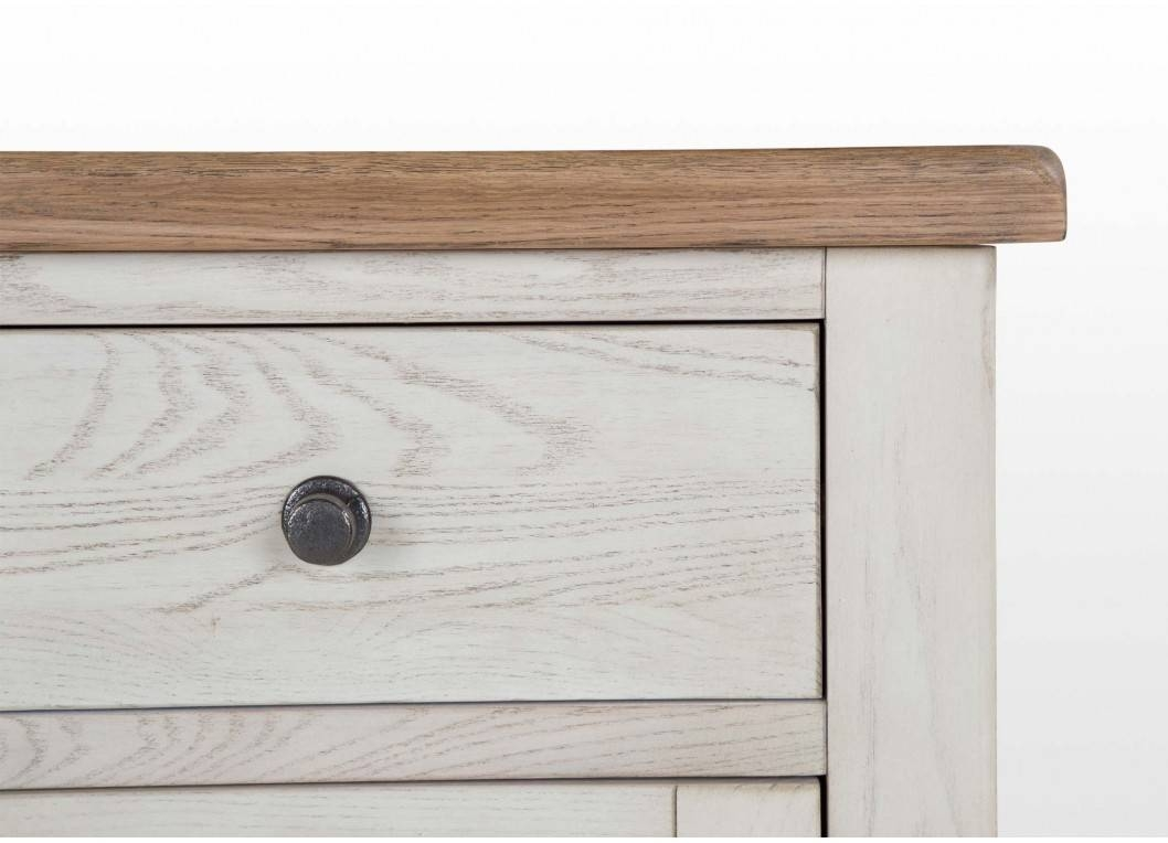 Furniture: Contemporary Version Of Distressed Sideboard Buffet With White Distressed Finish Sideboards (#4 of 15)