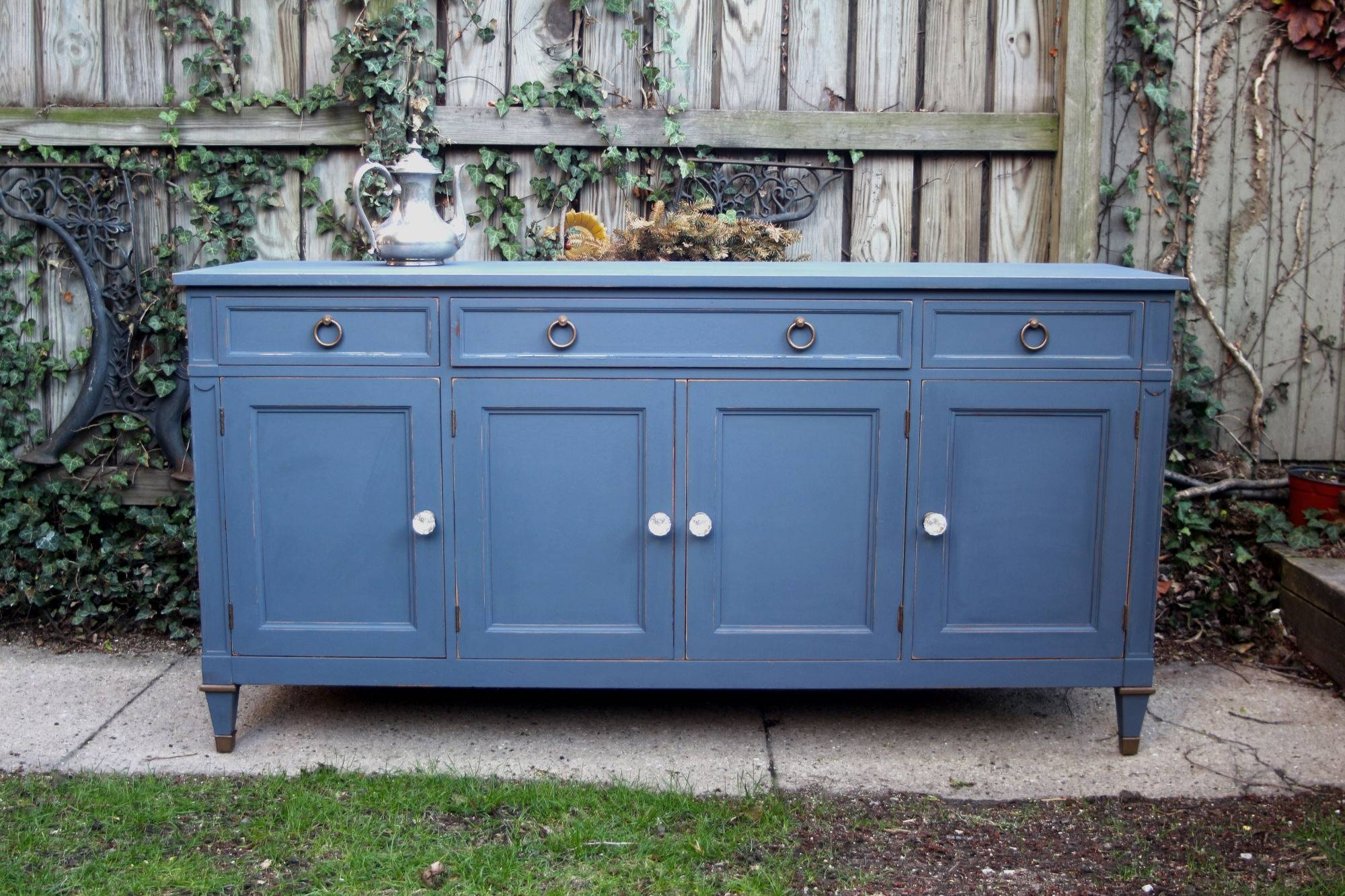 Furniture: Distressed Sideboard   Rustic Credenza   Distressed Buffet With Distressed Sideboards (View 9 of 15)