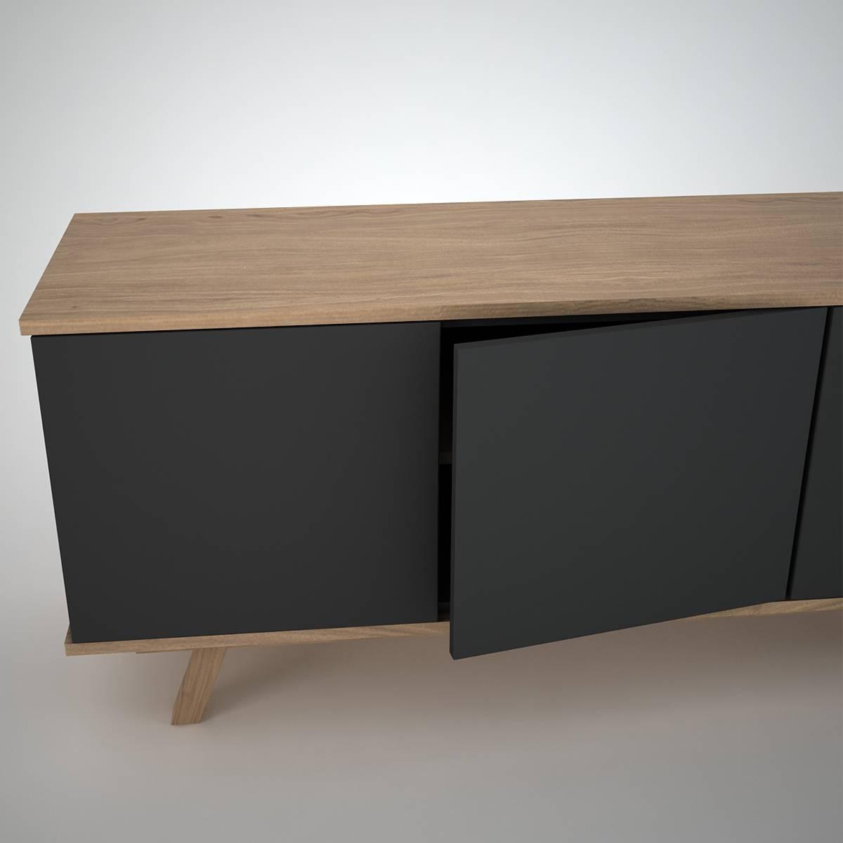 Furniture: Enchanting Black Modern Sideboard For Modern Interior Inside Modern Sideboard Furniture (#8 of 15)