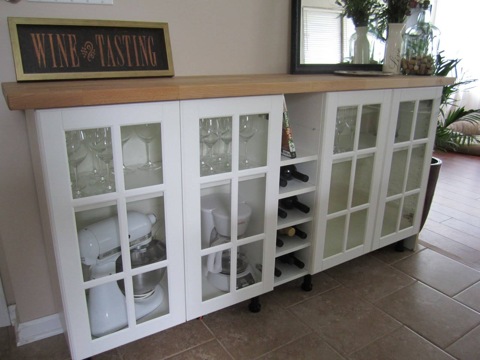 Furniture: Hutch Buffet | Lockable Liquor Cabinet | Buffet Table Ikea With Regard To Sideboards And Buffets Ikea (#3 of 15)