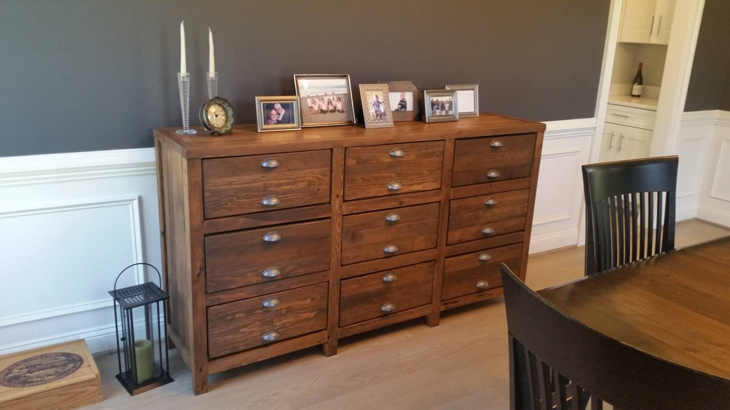 Furniture: Rustic Buffet Table | Skinny Storage Cabinet | China For Stylish Kitchen Sideboards And Buffets (View 14 of 15)