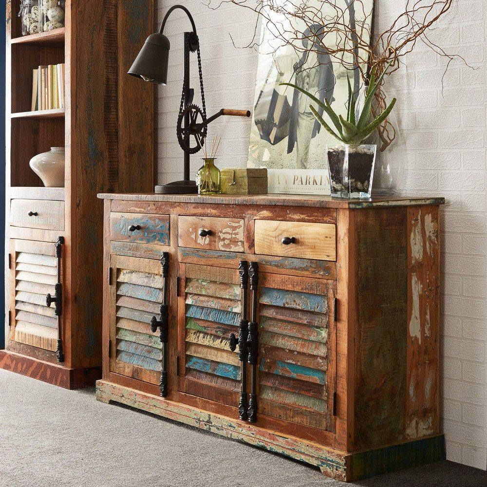 Furniture: Tall Sideboard | Rustic Credenza | Distressed Sideboard Regarding Tall Sideboards (#4 of 15)