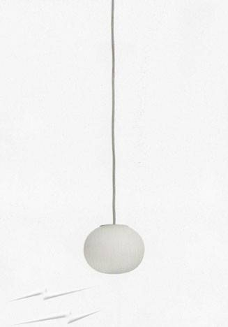 Fz103 – Flos Mini Glo Ball S Pendant In White, 112Mm Diam Globe For Current Glo Ball Pendants (#7 of 15)