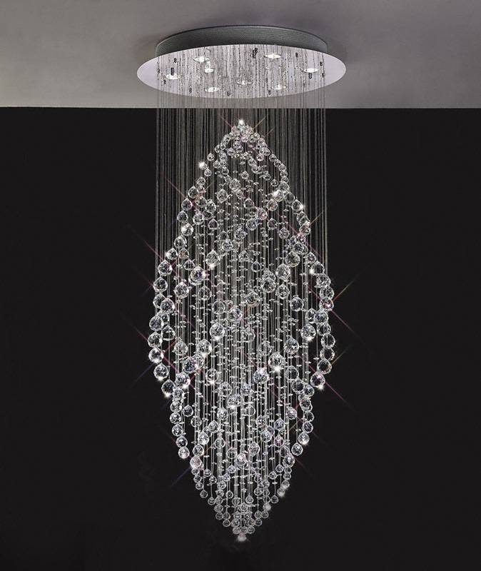 Gabor Floating Crystal Pendant Chandelier In Newest Crystal Pendant Lights Uk (#13 of 15)
