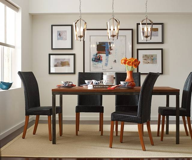 Gather Pendants Over Dining Room Table – Contemporary – Dining Within Most Popular Dining Table Pendants (#8 of 15)