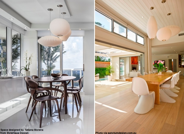 George Nelson Lamps For The Dining Room – Modernica Blog Throughout Current George Nelson Pendants (#8 of 15)
