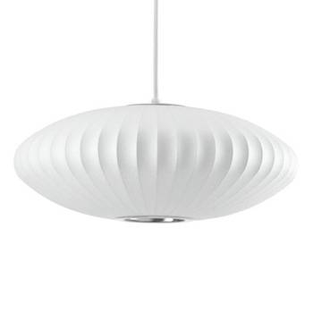 Inspiration about George Nelson Saucer Silk Pendant Lamp – Buy Silk Pendant Lamp In Most Up To Date Saucer Pendant Lights (#12 of 15)