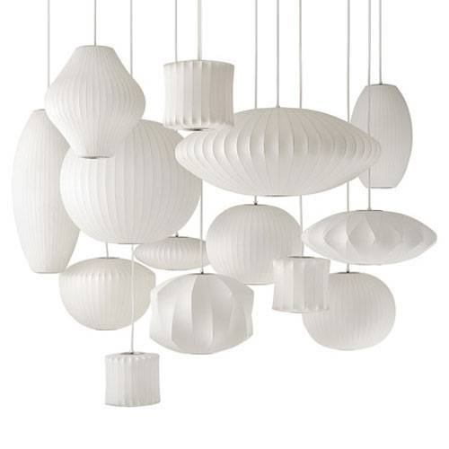Inspiration about George Nelson Saucer Silk Pendant Lamp – Buy Silk Pendant Lamp Pertaining To Most Up To Date George Nelson Pendant Lamps (#14 of 15)