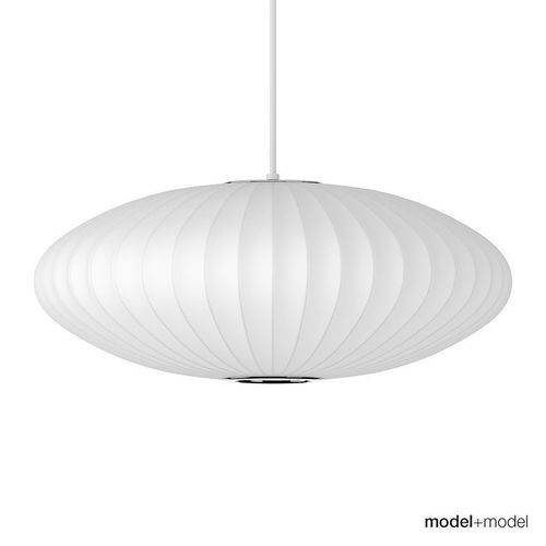 George Nelson Saucer Suspension Lamp 3D Model | Cgtrader Regarding 2018 George Nelson Saucer Pendants (#7 of 15)