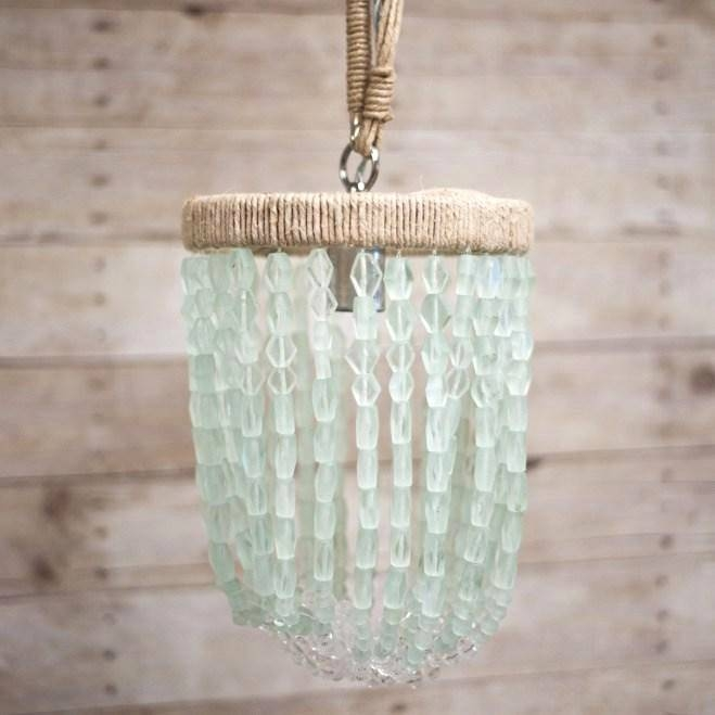 Glass Bead Pendant Light With Sham Beaux Malibu Coke Bottle Beaded With Regard To 2017 Glass Bead Pendant Lights (View 10 of 15)