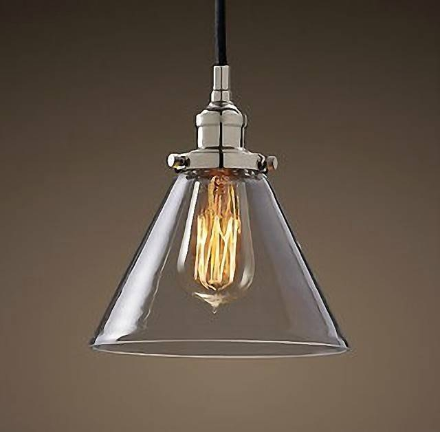 Inspiration about Glass Funnel Pendant – Chrome In Current Chrome Pendant Lights (#6 of 15)