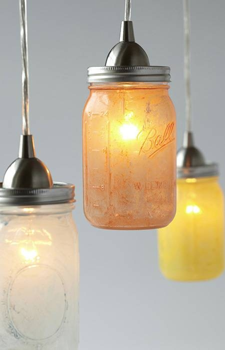 Glass Mason Jar Pendant Lights Within Mason Jar Pendant Lights (#5 of 15)