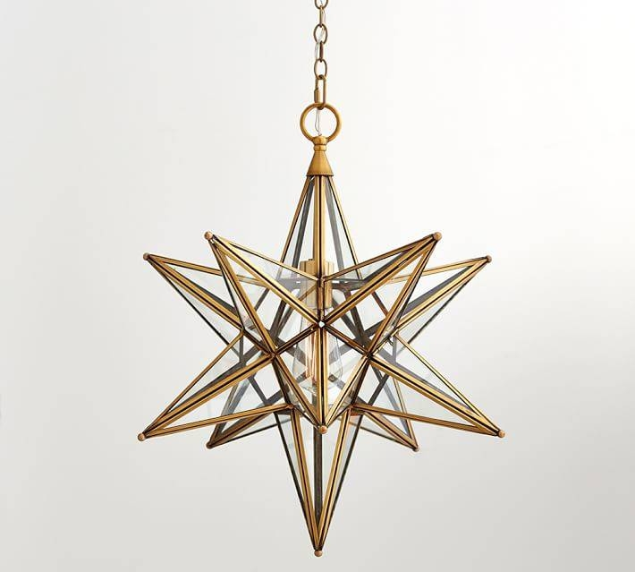 Inspiration about Glass Star Pendant | Pottery Barn Regarding Current Star Pendant Lights (#4 of 15)