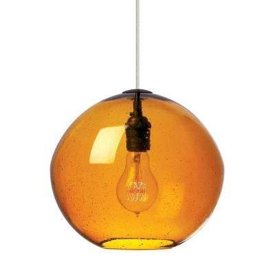 Inspiration about Globe – Orange – Pendant Lights – Hanging Lights – The Home Depot With Most Up To Date Orange Pendant Lamps (#11 of 15)