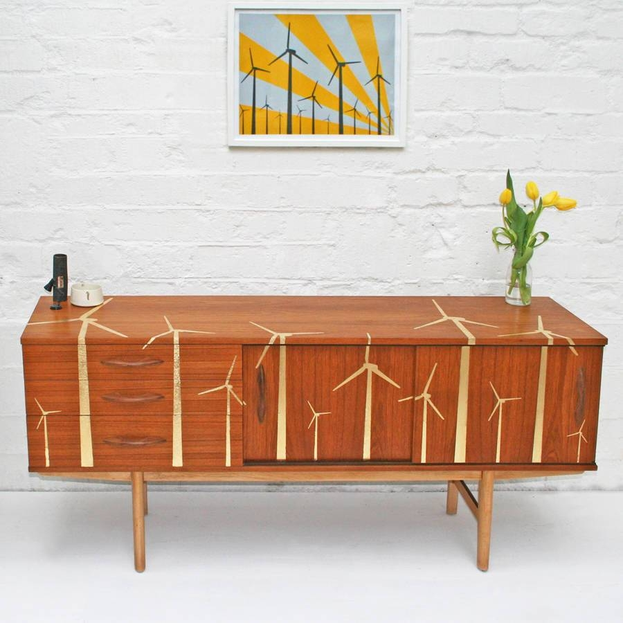 Gold Leaf 'wind Farm' Mid Century Sideboardscout & Boo Throughout Mid Century Sideboards (#2 of 15)