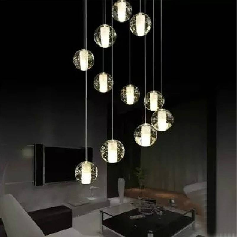 Gorgeous Hanging Pendant Lights Aliexpress Buy Crystal Ball Within Latest Ball Pendant Lamps (#12 of 15)