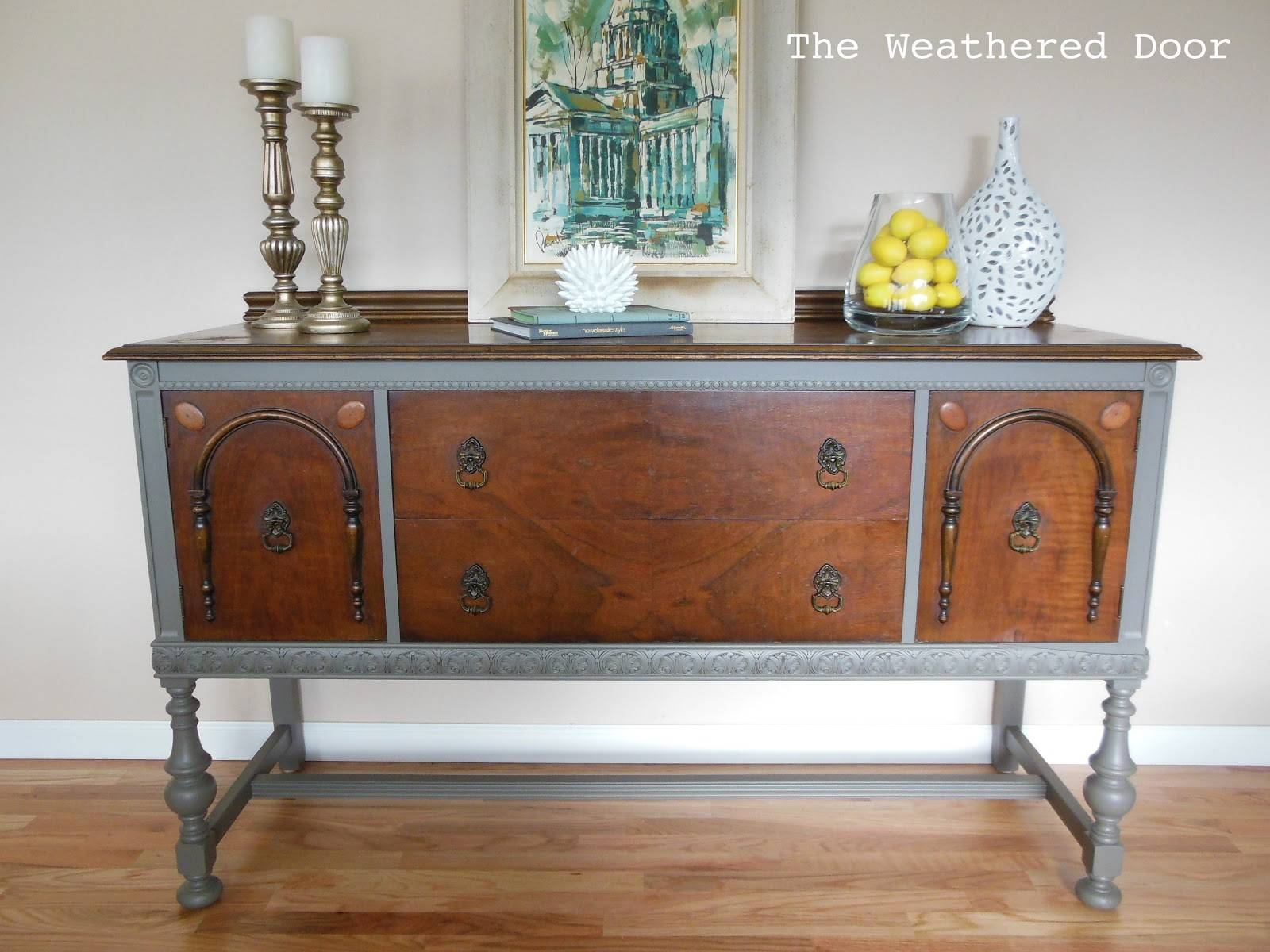 Grey And Wood Buffet – The Weathered Door With Regard To Grey Wood Sideboards (#3 of 15)