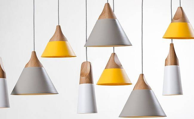Inspiration about Grey And Yellow Lights Steel And Wood Combined To Create Cool With Regard To Most Popular Yellow Pendant Lighting (#4 of 15)