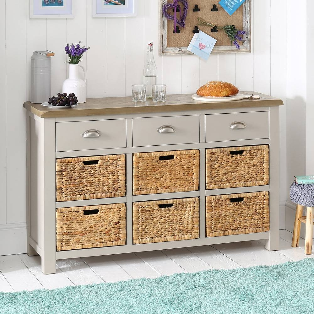 Inspiration about Grey Painted Large Basket Sideboard Inside Grey Painted Sideboards (#14 of 15)