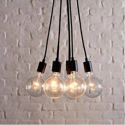 Guest Picks: Exposed Bulb Lighting Pertaining To Bare Bulb Cluster Pendants (View 12 of 15)